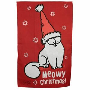 Poly-Cotton-Tea-Towel-Christmas-Simon-039-s-Cat-Gift-Stocking-Filler