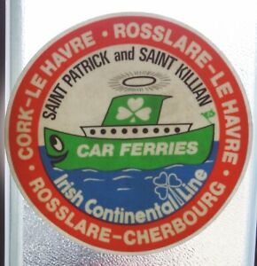 Bumper Stickers Irish Continental Line Car Ferries Ferry 80er Indoor Adhesive