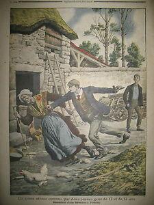CRIME-ASSASSINAT-FERMIERE-A-FIRMINY-CRIMINALITE-ENFANTINE-LE-PETIT-JOURNAL-1907