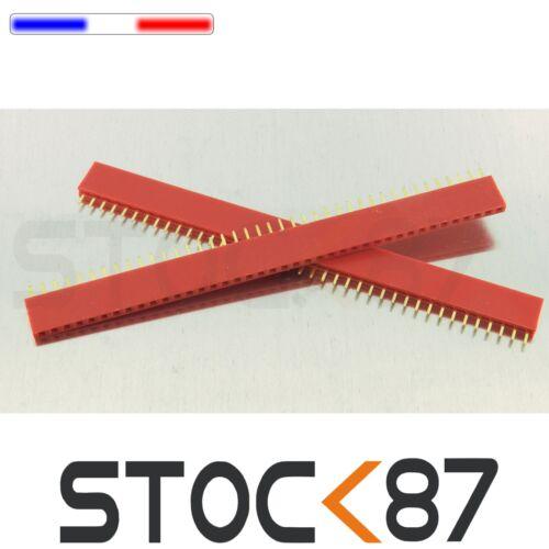 931R# barrette rouge femelle  40 pin  2,54mm sécable 2 à 25 pcs arduino DIY