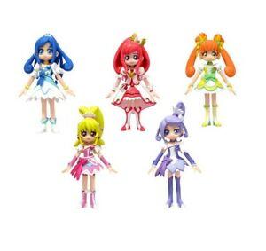 5 figure doll set Bandai Glitter force precure doki doki precure pretty cure