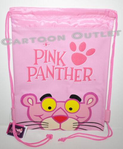 PINK PANTHER BACKPACK DRAWSTRING STRING BACKPACK SLING TOTE BAG PINK NEW CANVAS
