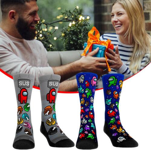 Among Us Pattern Socks Bday Custom Men Women Cosplay Stockings Gifts