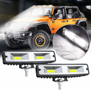 Travail-Barre-Lumineuse-Lampe-Lumiere-Hors-Route-2X-12V-48W-2LED-Vehicule-6500K