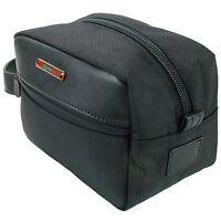 Swiss Toiletry Bag Mens Shaving Case Travel Overnight Tote Black Kit Pocket
