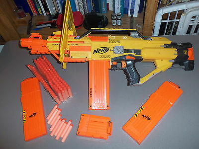 Nerf N Strike Stampede Ecs Outdoor Foam Dart Gun W Shield