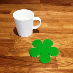 """Daisy En Forme De Vert Vif Brillant Finition Acrylique Coasters Lot De 4/6 Ou 8, 11 Cm 4""""-afficher Le Titre D'origine Pour Assurer Une Transmission En Douceur"""