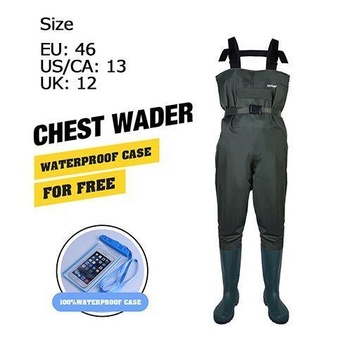 Stiefel Breathable Foot Chest Fishing Wader Breathable Stiefel Waterproof Adjust Belt Case Fly Fishing b339bf