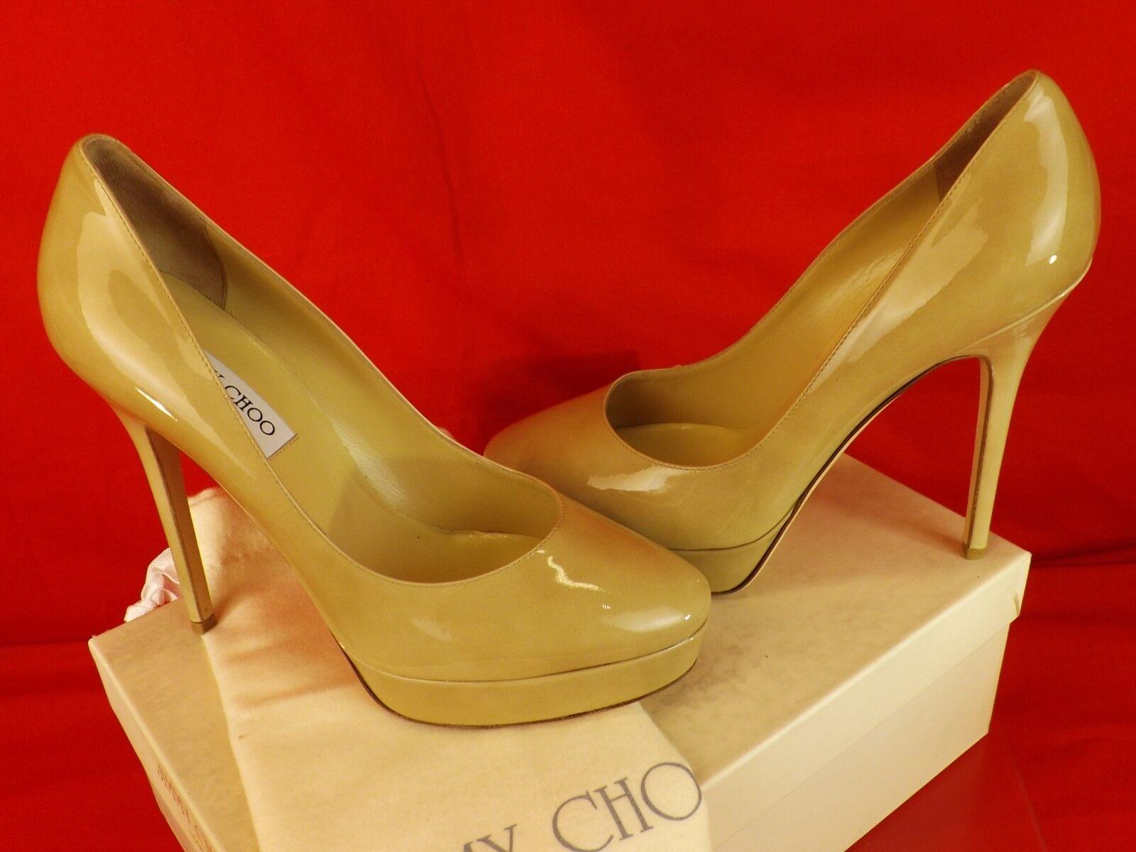 Nuevo En Caja Jimmy Choo Choo Choo Cosmic 120 Nude Charol Plataforma Zapatos De Salón 41.5  695 Clásico ef0bac