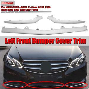 3Pc-Avant-Pare-Choc-Inferieur-Chrome-Bordure-Moulure-pour-Mercedes-W212-Classe-E