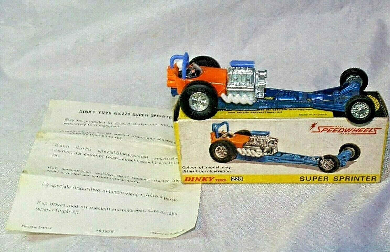 Dinky 228 SUPER SPRINTER, Comme neuf in  original box  haute qualité