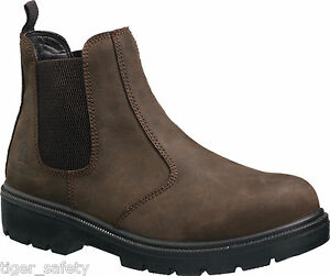Tuffking 9551 S1P Black Chelsea Dealer Steel Toe Cap Safety Boots Work Boot PPE
