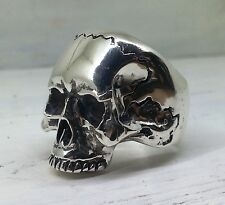 Sterling Silver Keith Richards Skull Ring Large Biker  Rock Style
