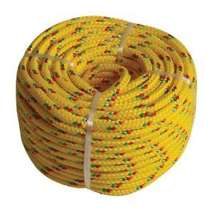 PP-SEIL 200m x 3mm Polypropylen schwimmfähig Tauwerk Tau Kunstoffseil Seil Gelb