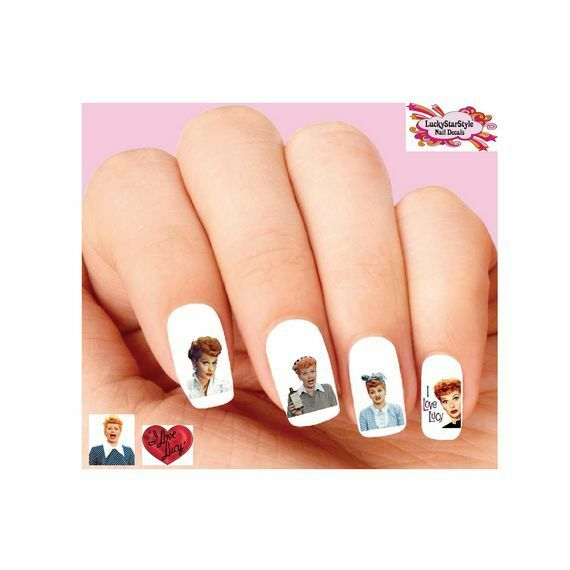 Waterslide Nail Decals Art Set Of 20 Lucille Ball I Love Lucy Orted Ebay
