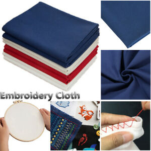 Craft-Hand-stitched-Cotton-Linen-Fabric-Embroidery-Cloth-Handmade-Sewing