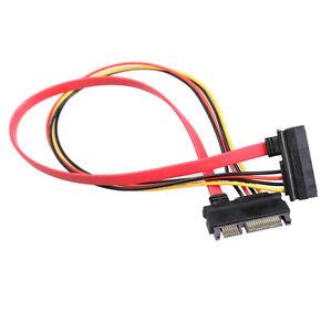 45cm-22-Pin-Stecker-auf-Buchse-7-15-pin-5-Wire-SATA-Daten-Verlaengerungskabel