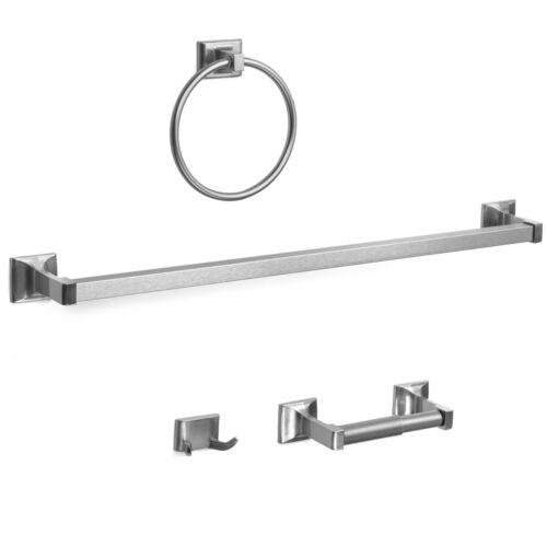 Designers Impressions Eclipse Series Satin Nickel Bath Hardware Set