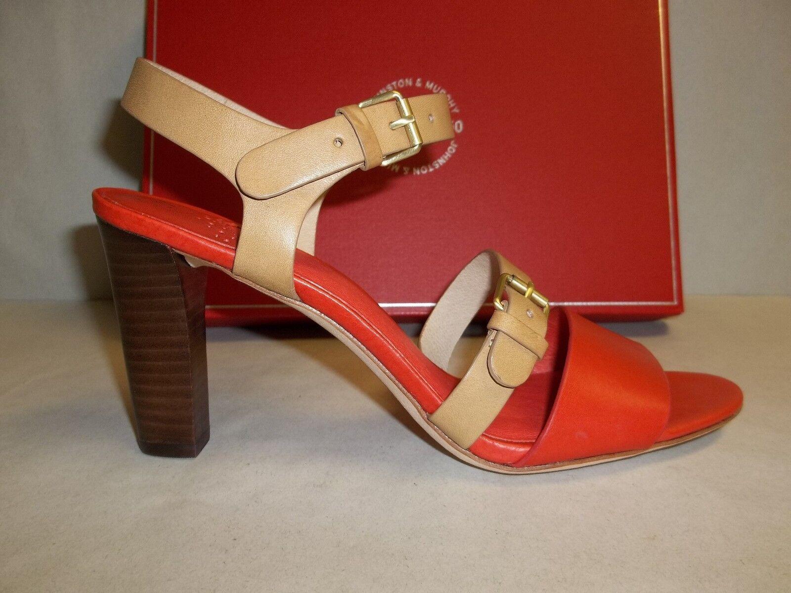 Johnston & Murphy Size 8 M LANEY QUARTER STRAP Leather Sandals New Womens shoes
