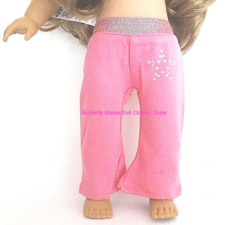 Pink Yoga Pants Rhinestone Star  18 in Doll Clothes Fits  American Girl