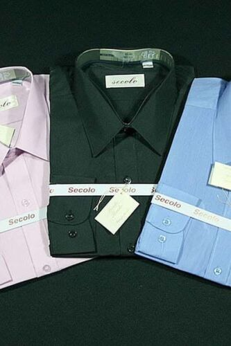 Secolo di alta qualità Calzini Business Camicia Manica Lunga 100/% COTONE 42//Nero