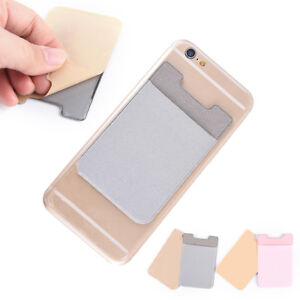56-90Mm-Elastic-Lycra-Cell-Phone-Wallet-Case-Credit-Id-Card-Holder-Pocket-Sticky