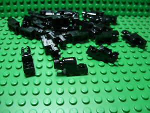 ** 25 CT LOT **  Lego NEW black 1 x 2 modified plate W// side clip pieces