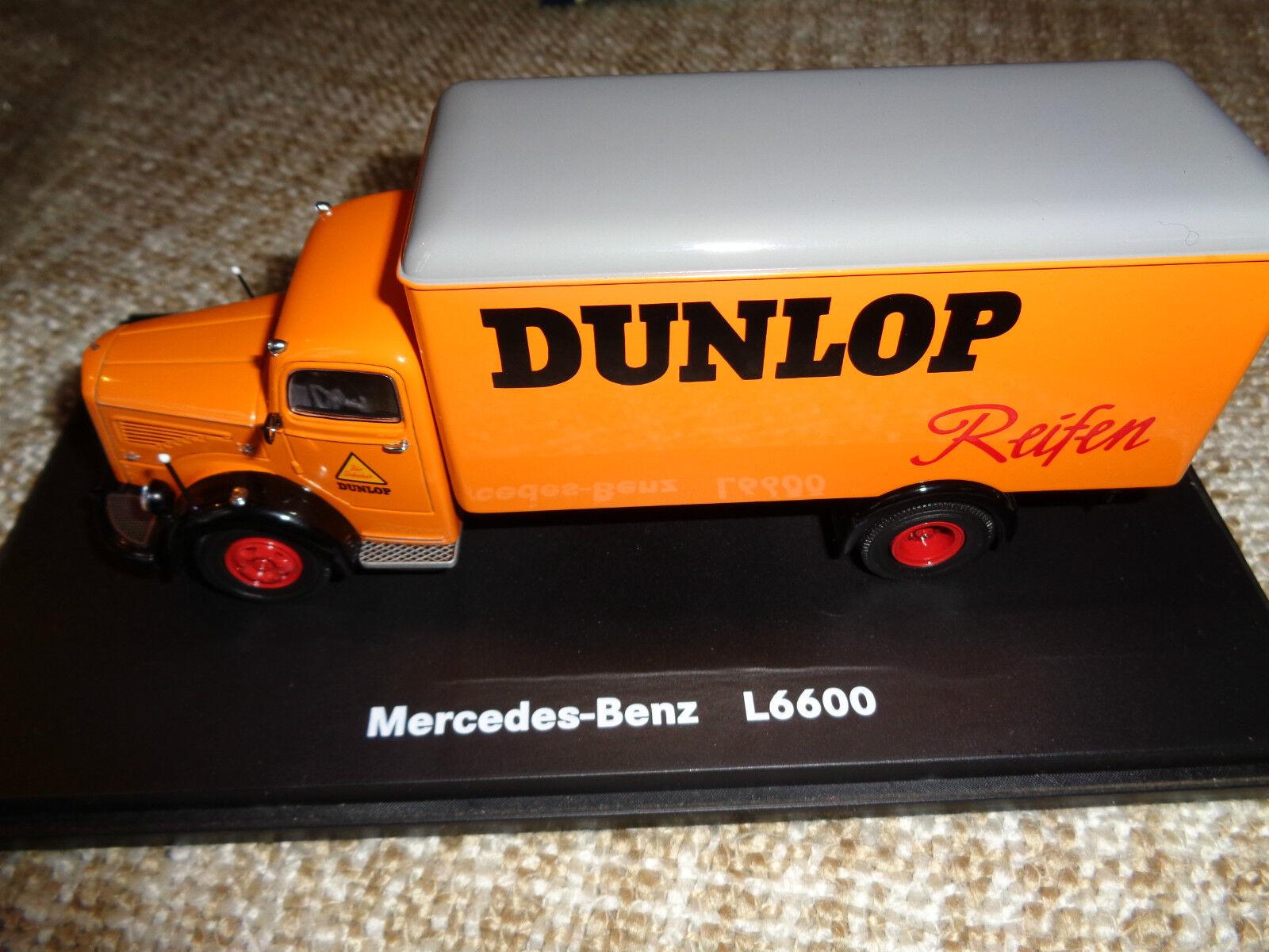 Schuco 1 43 Modellauto; Mercedes Benz L 6600, DUNLOP, in OVP  | Primäre Qualität