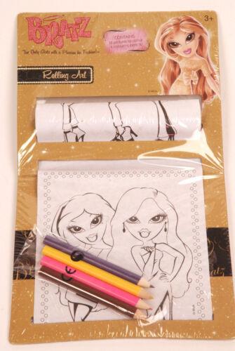 2 SETS /'Bratz/' Rolling Art Set Colouring Pencils childrens drawing Fun 36 Pics