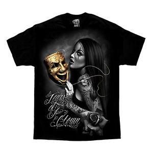 DGA-David-Gonzales-Tears-of-A-Clown-Chicano-Lowrider-Tattoo-Art-T-Shirt