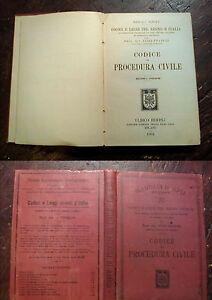 CODICE DI PROCEDURA CIVILE 1901 MANUALI HOEPLI