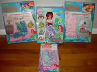 Tyco Disney's The Little Mermaid Ariel And Her Friends Doll Set W/accessories