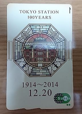 TOKYO Station 100th Anniversary IC Card Suica With Mount From Japan Rare New