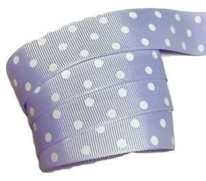 "1 yard Gray w// pink glitter polka dot printed 7//8/"" grosgrain ribbon by the yard"