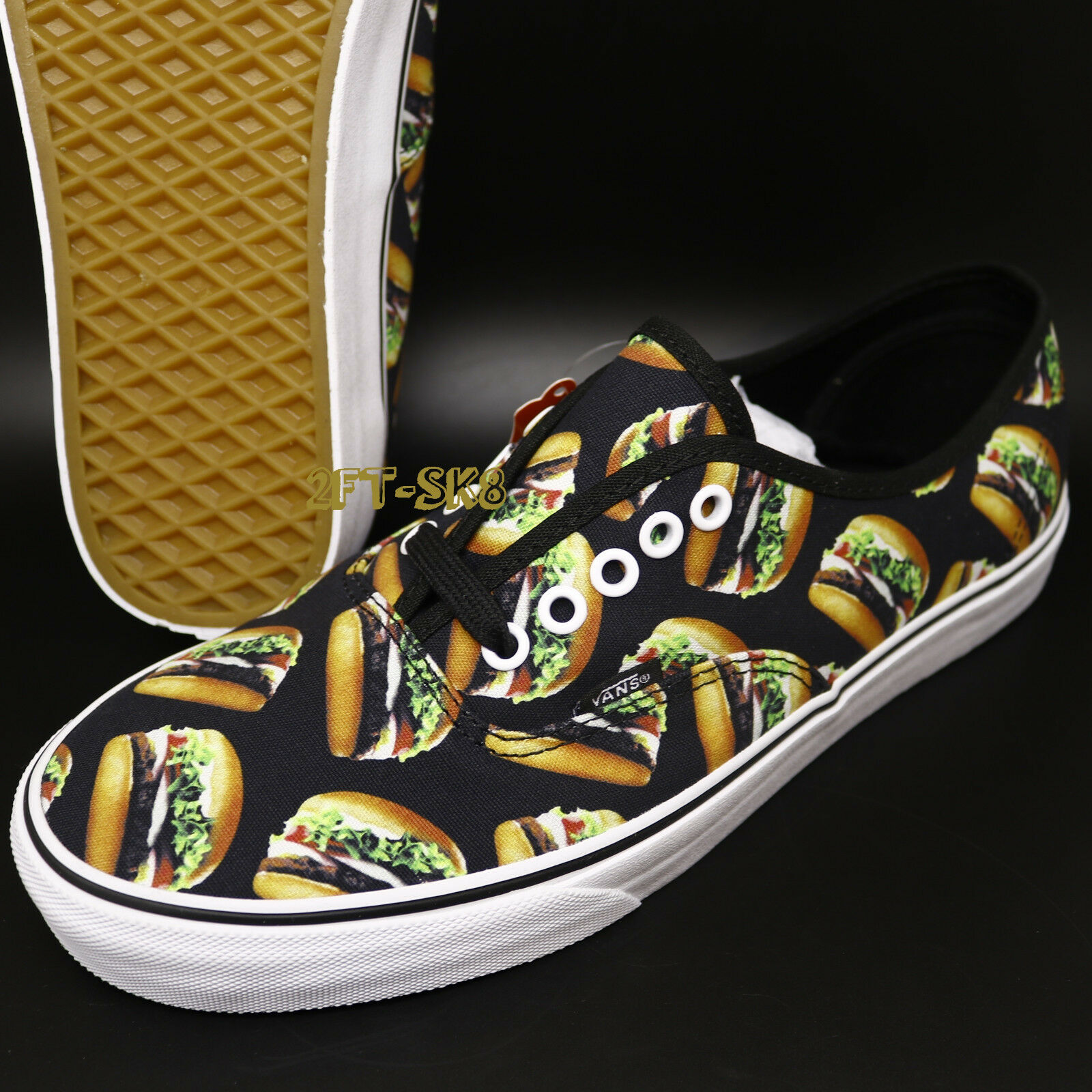 Vans Authentic Late Night noir Hamburgers hommes SKATE Chaussures //burger S89116.128