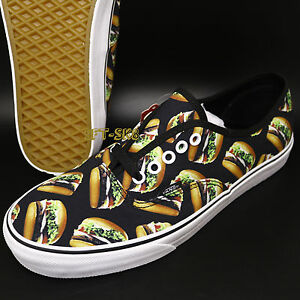 c7a14dff23193f Vans Authentic Late Night Black Hamburgers MENS SKATE SHOES   burger ...