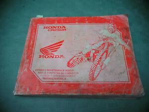 BETRIEBSANLEITUNG-HONDA-CR250-1993-int-B-OWNERS-MANUAL-BEDIENUNGSANLEITUNG