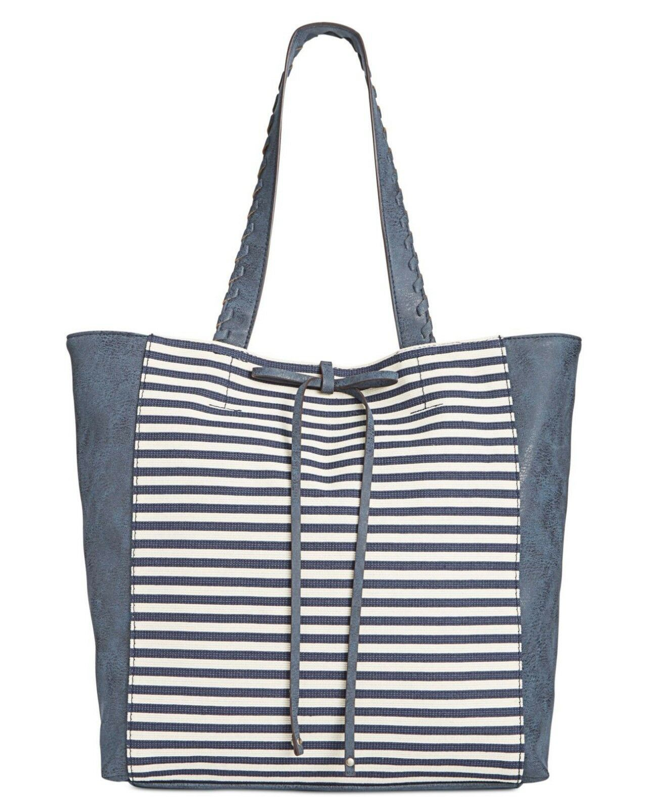 Style & Co Airyell Canvas Tote Blue, MSRP
