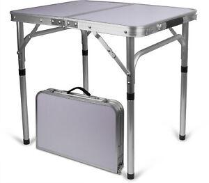 Campingtisch Alu Klappbar.Details Zu Aluminium Campingtisch Klappbar Tischfläche 45 Cm X 60 Cm Variable Höhe