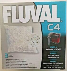 Fish & Aquariums Candid Fluval Hagen C4 3 Pack Ammonia Remover Media 14016 Jade White Filters
