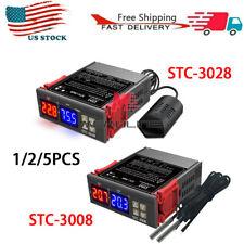 1 5pcs Stc 30083028s Digital Dual Display Temperature Dnd Humidity Controller