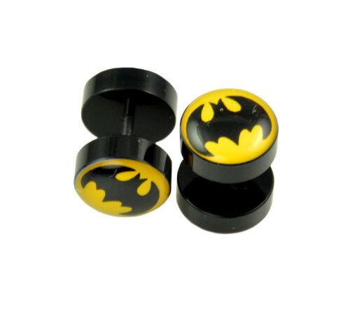 Skull etc 16G-10mm 2pcs includes Superheroes 00G Fake Ear Plugs Novelty