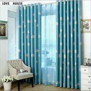 Quality Blockout Eyelet Curtains Blue Pink Drapes Kids Baby Boy S Girl S Room Ebay