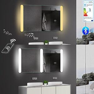 Lux Aqua Design Badezimmerspiegel Led Warm Kaltweiss Bluetooth