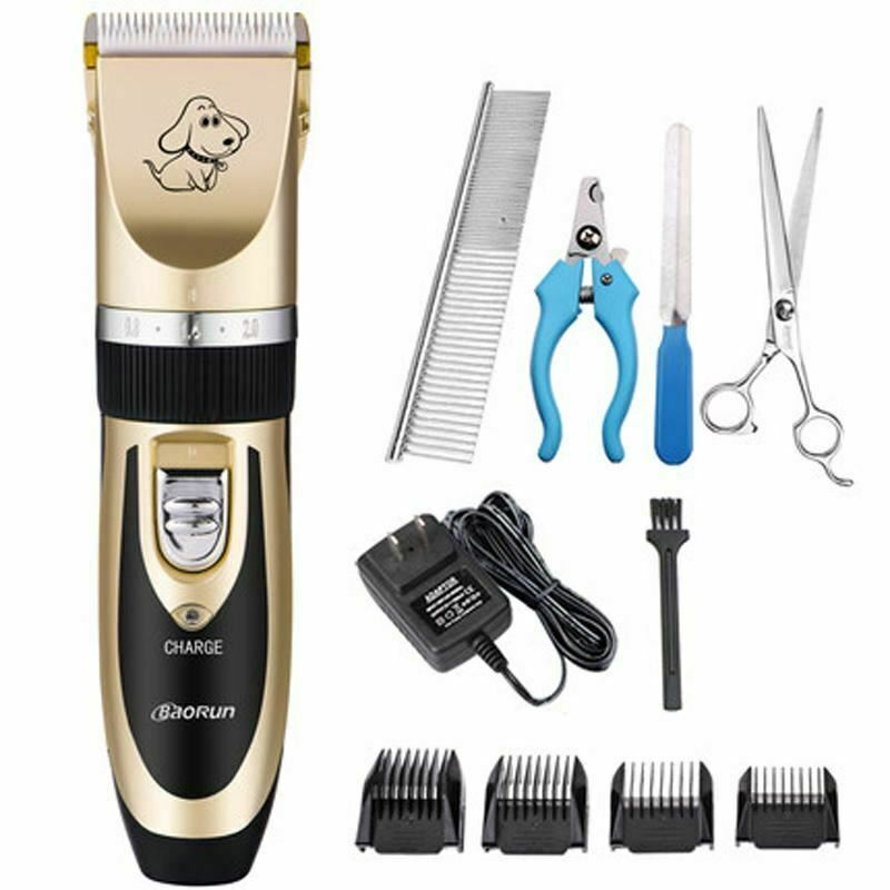 Grooming Kit Rechargeable Pet Hair Trimmer Cat Dog Electrical Clipper Shaver Set