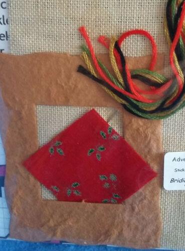 11fd Leinen, Completo-Stick envase punto de cruz casa de muñecas calendario de adviento