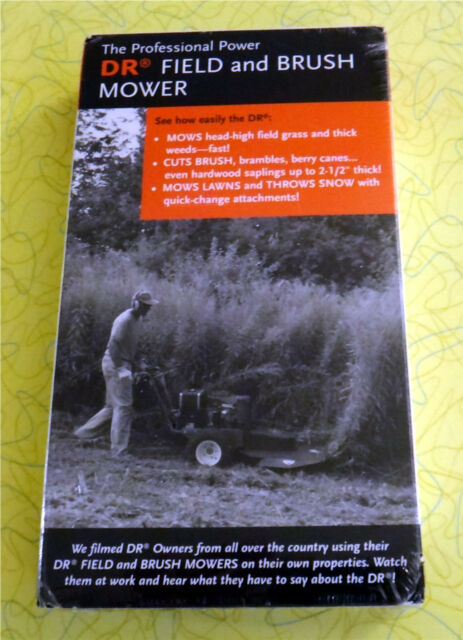 Dr Field and Brush Mower ~ New VHS Movie ~ Lawn Care Sealed Video