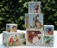 Stapelwürfel 50er 50s Deko Kinderzimmer Weihnachten stacking cube vintage shabby