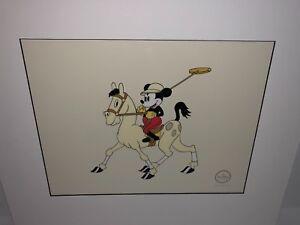 Disney Mickey Mouse Sericel Cel Serigraph Mickey's Polo Team Rare
