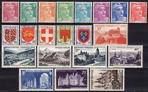 1620-Francia-Lotto-di-21-francobolli-1948-52-Nuovi-MNH